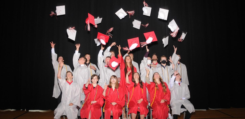 Graduation Hat Toss